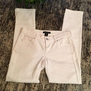 WHBM Noir White Jeans with silver accents
